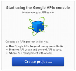 Create API project
